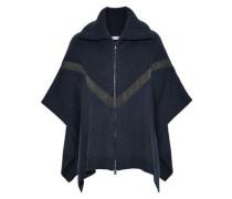 Bead-embellished cashmere poncho