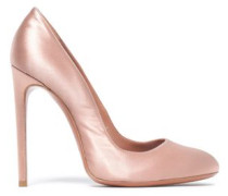 Satin Pumps Antique Rose