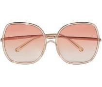 Square-frame Acetate Sunglasses Gold Size --