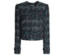 Fringed bouclé-tweed jacket