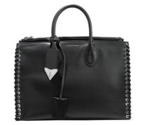 Whipstitched Leather Tote Black Size --
