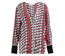 Printed silk jacket