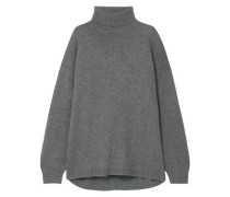 Oversized Cashmere Turtleneck Sweater Anthracite  /S