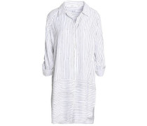 Striped twill nightshirt