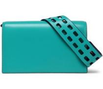 Soiree patent-leather shoulder bag