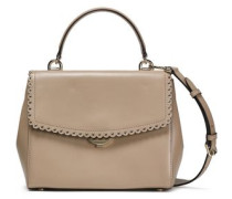 Scalloped Leather Tote Neutral Size --