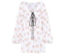 Olympia Fil Coupé Cotton-blend Mini Dress Pastel Pink
