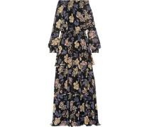 Indie tiered printed silk-georgette maxi dress
