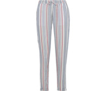 Ella Striped Gauze Tapered Pants Sky Blue