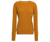 Cable-knit Cashmere Sweater Mustard