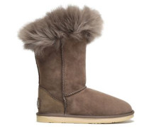 Foxy Shearling Boots Taupe