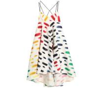 Ruffled printed cloqué maxi dress