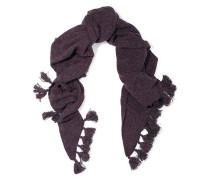 Tassel-embellished cashmere scarf