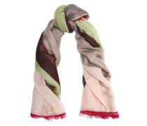 Fringe-trimmed Cashmere And Silk-blend Scarf Peach Size --