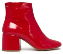 Patent-leather Ankle Boots Red