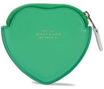 Panama Smooth And Textured-leather Coin Purse Bright Green Size --