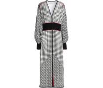 Printed silk crepe de chine midi dress