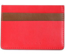 Two-tone Leather Cardholder Claret Size --