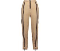 Woodacomb zip-embellished crepe tapered pants