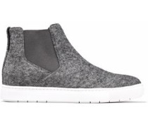 Mélange felt slip-on sneakers