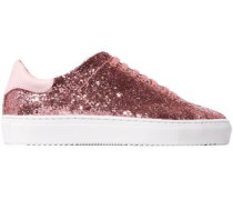 Woman Clean 90 Glittered Leather Sneakers Bubblegum
