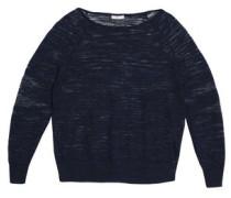 Mélange knitted linen sweater