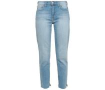 Cropped High-rise Slim-leg Jeans Light Denim  5