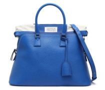 Two-tone Canvas-paneled Pebbled-leather Tote Cobalt Blue Size --