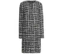 Wool-blend tweed coat