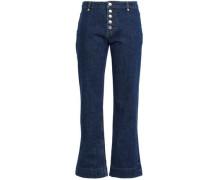 Cordica Mid-rise Kick-flare Jeans Dark Denim  4