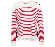 Woman Striped Cotton Sweater Ivory