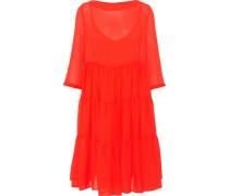 Agnetha gathered georgette dress