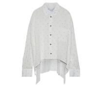 Muma oversized printed voile shirt