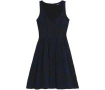 Pleated cloqué-jacquard dress