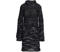 Mélange Open-knit Cashmere-blend Sweater Black