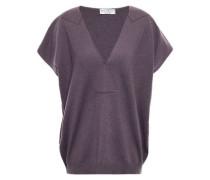 Bead-embellished Cashmere Sweater Purple