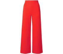 Stretch-knit Culottes Red