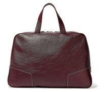 Textured-leather Weekend Bag Burgundy Size --