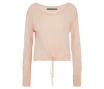 Gathered Stretch-knit Top Blush