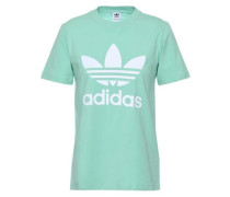 Printed Cotton-blend Jersey T-shirt Mint