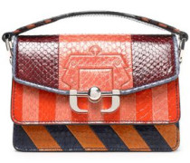 Twi Twi paneled striped python shoulder bag