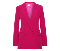 Luca Double-breasted Cady Blazer Fuchsia Size 14