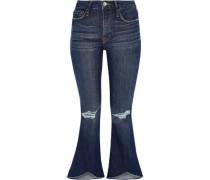 Distressed Mid-rise Kick-flare Jeans Mid Denim  5
