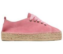 Hamptons Suede Espadrille Sneakers Bubblegum