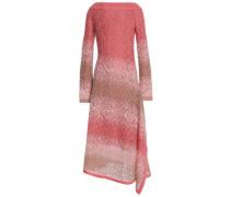 Dégradé open-knit midi dress