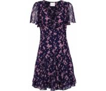 Annali bow-embellished floral-print silk-chiffon mini dress