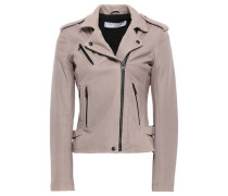 Newhan Washed-leather Biker Jacket Lilac