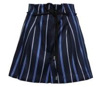 Striped Jacquard Shorts Navy