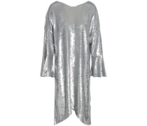 Napa Sequined Cotton-jersey Dress Silver