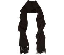 Fringe-trimmed wool scarf